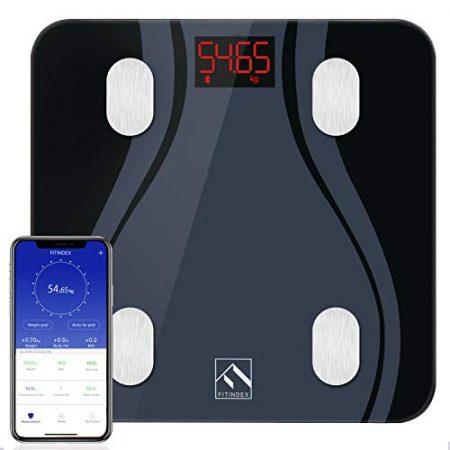 Smart Digitale Waage bis 180kg f/ür Gewicht Wasser Protein BMR usw. Knochen iTeknic K/örperfettwaage BMI Muskel Fett Bluetooth K/örperwaage f/ür iOS /& Android digitale Personenwaage mit APP