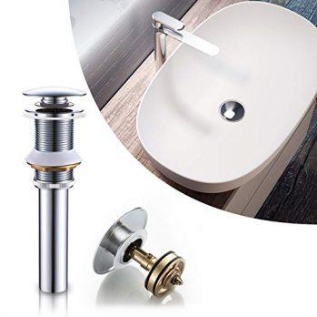 BONADE Siphon Pop Up Ablaufgarnitur mit /Überlauf Universal R/öhrensiphon Set f/ür Waschbecken Waschtisch Bad Geruchsverschluss St/öpsel Abfluss Garnitur Chrom