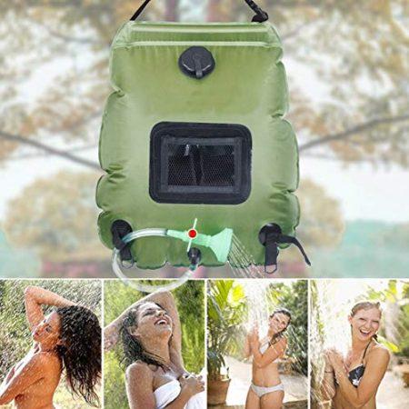 Outdoor Dusche für Camper, Camping Solardusche & Camping Duschzelt