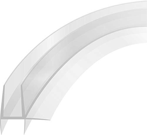 Duschdichtung Doppelstreifdichtung mit Schwallschutz 80cm f/ür 4-6 mm Glasst/ärke