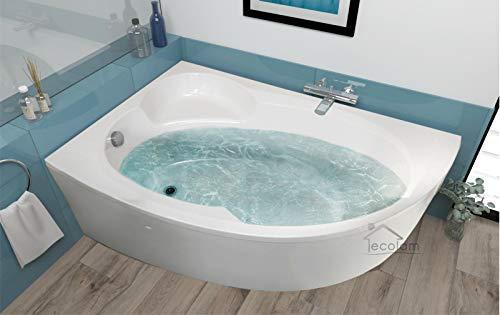 Badewanne Wanne Eckwanne Eck 170 x 100 cm Füße Ablaufgarnitur ECOLAM links