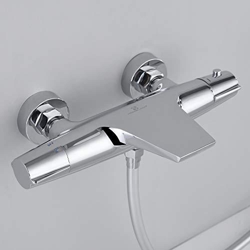 Homelody Wasserfall Badewannenarmatur 40 C Thermostat Wannenarmatur Brausebatterie Chrom Wannenthermostat Mit Online Kaufen