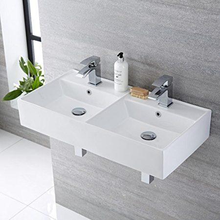 Doppelwaschbecken, Waschbecken für 2 Personen & Doppelwaschtisch