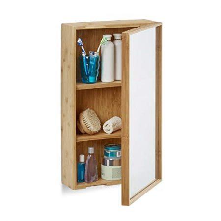 Badschrank mit Spiegel, Badezimmer Wandspiegel mit Beleuchtung & Bad Spiegelschrank
