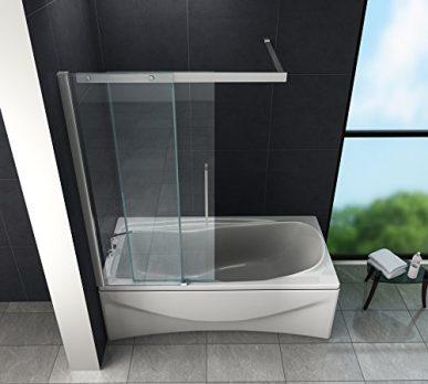 50x200cm Walk in Duschwand Duschtrennwand 8mm Easy-clean Nano Glas Duschabtrennung