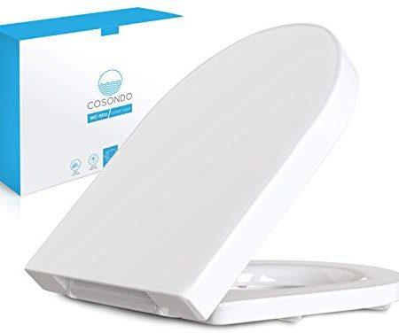 WOLTU #22 WC Deckel mit Absenkautomatik Duroplast Klodeckel Antibakteriell Toilettendeckel Softclose Scharnier