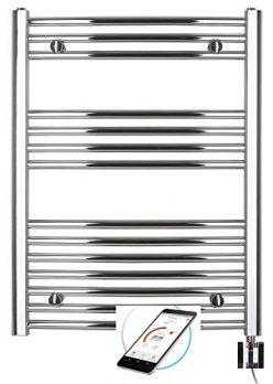 Handtuchhalter 1000 x 600mm Handtuchheizung Mittelanschluss Handtuchheizk/örper Badezimmer Badheizk/örper wei/ß Handtuchtrockner Wandmontage COSTWAY Handtuchw/ärmer Warmwasser