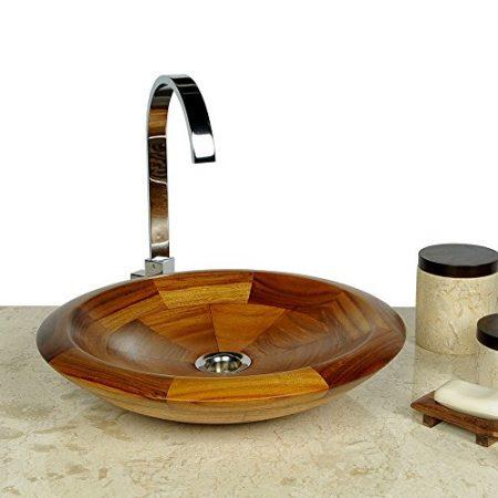 Massivholzwaschbecken, Waschbecken aus Holz & Holz Aufsatzwaschbecken